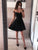 Simple Black Off Shoulder Homecoming Dresses Short Cocktail Dresses