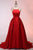 Fashion Red A-Line Spaghetti Straps Satin Prom Dress Cheap Evening Dresses - EVERISA