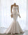 Elegant White Sleeveless Mermaid Wedding Dresses Satin Long Bridal Dresses