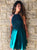 Teal Green Halter Cross Back Homecoming Dresses Lace Cocktail Dresses