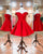 Elegant Red Sweetheart Off Shoulder Satin Prom Dress Short Homecoming Dress - EVERISA