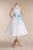 Simple Strapless Sleeveless A Line Short Wedding Dresses With Sash