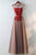 Sleeveless Open Back Beaded Prom Dresses Lace Applique Evening Dresses
