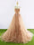 Strapless Sweetheart Long Tulle Prom Dresses Lace Appliques Evening Dresses