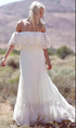 Elegant Strapless Off Shoulder Long Wedding Dresses With Lace Appliques