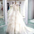 Long Sleeve Open Back Beaded Wedding Dresses Tiered Tulle Bridal Dresses