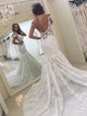 Backless Lace Appliques Wedding Dresses Sleeveless Mermaid Bridal Gown
