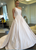 White One Shoulder Sleeveless Long Wedding Dresses A Line Bridal Gown