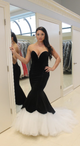 Strapless Sleeveless Mermaid Prom Dresses Sweetheart Evening Dresses