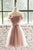 Off Shoulder A Line Short Homecoming Dresses Lace Appliques Cocktail Dresses