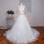 Cheap Sweetheart Sleeveless Long Wedding Dresses A Line Bridal Dresses