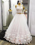 Two Piece Sleeveless A Line Wedding Dresses Lace Bridal Dresses