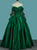 Green Sweetheart Long Sleeve Prom Dresses Lace Beaded Quinceanera Dresses