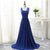 Royal Blue Sweetheart Sleeveless A Line Chiffon Bridesmaid Dresses