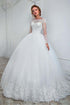 High Quality White Long Sleeves Backless Tulle Wedding Dress Lace Bridal Gowns
