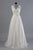 Charming White Sleeveless Backless Tulle Wedding Dress Lace Bridal Gown With Sash - EVERISA