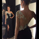 White/Black Slit Sleeveless Chiffon Evening Dresses Affordable Prom Dresses