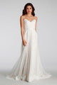 Charming White Spaghetti Straps Backless Lace Bridal Gown Beach Long Wedding Dress - EVERISA