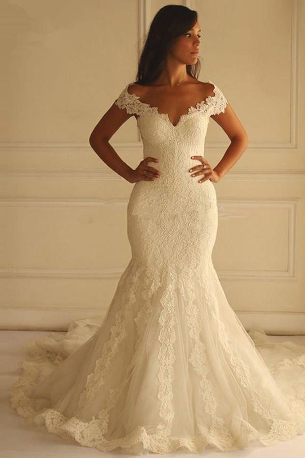 research cheap off white wedding dresses