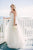 2018 White Spaghetti Straps Sleeveless Tulle Wedding Dress Long Bridal Gown With Sash - EVERISA