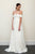 Fashion White Off Shoulder Open Back Chiffon Wedding Dress Bridal Gown With Lace - EVERISA