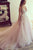 Sexy Pink V-Neck Backless Tulle Wedding Dresses Lace Appliques Bridal Gowns - EVERISA