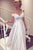 Fashion White Off Shoulder Empire Waist Satin Wedding Dress Long Bridal Dresses - EVERISA