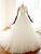 White V Neck Backless Wedding Dresses Best Bridal Gown With Long Sleeves - EVERISA