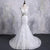 Mermaid Bridal Gown V-Neck Backless Wedding Dresses With Detachable Skirt - EVERISA