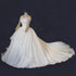 Simple White Off Shoulder A line Bridal Gown Cheap Wedding Dresses With Backless