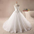 Strapless A line Wedding Dresses White Sleeveless Beaded Bridal Gowns