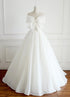 Simple White A-Line Strapless Sleeveless Wedding Dresses Cheap Bridal Gown