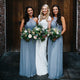 Elegant Sky Blue Empire Sleeveless Floor-Length Chiffon Prom Dresses Affordable Bridesmaid Dress - EVERISA