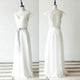 Simple A-line Cap Sleeves Chiffon Bridal Gown Cheap Wedding Dresses - EVERISA