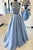Two Piece High Neck Sleeveless A Line Prom Dresses Cheap Evening Dresses