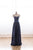 Navy Blue Sleeveless Sweetheart Long Prom Dresses Cheap Evening Dresses - EVERISA