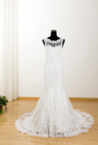 Scoop Neck Sleeveless Mermaid Wedding Dresses Affordable Bridal Dresses