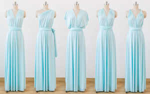 Pale Blue Infinity Dress,Multiway,Convertable Bridesmaid Dress