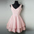 V Neck Open Back Tiered Short Homecoming Dresses Cheap Cocktail Dresses - EVERISA