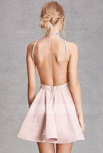Sexy Sleeveless Open Back Cocktail Dresses Affordable Homecoming Dresses - EVERISA