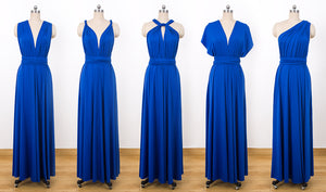 Royal Blue Infinity dress,Convertable Bridesmaid Dress,Multiway