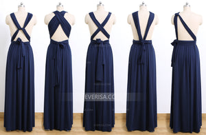 Navy Blue Convertable Dress,Multiway,Infinity Bridesmaids Dress