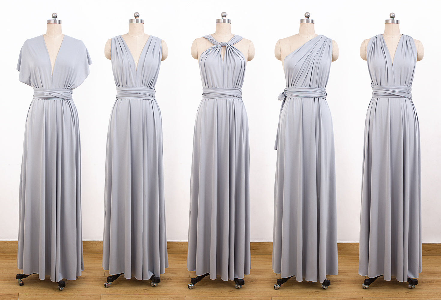 classic styles huge inventory promotion Grey Convertable Dress,Multiway Wrap Dress,Infinity Bridesmaids Dress