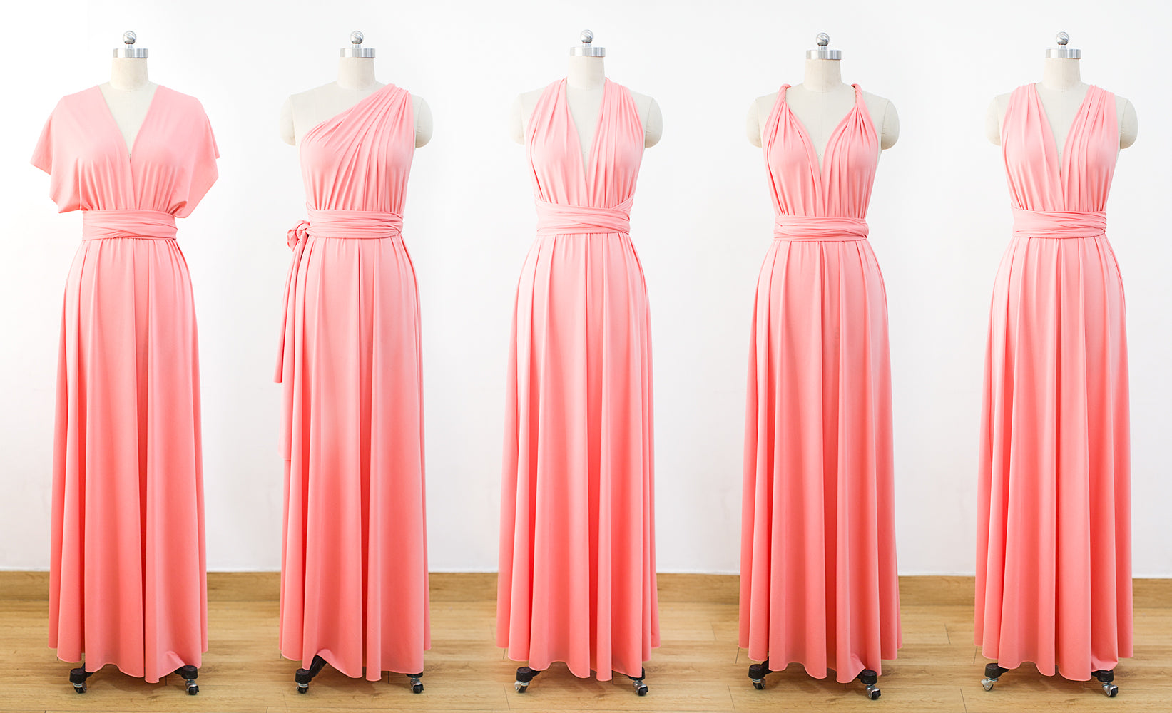 Coral Multiway Wrap Dress 60aa693e2bf9