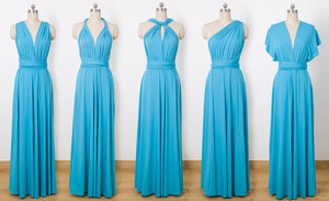 Dodger Blue Convertable Dress,Multiway,Infinity Bridesmaids Dress