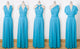 Dodger Blue Convertable Dress,Multiway,Infinity Bridesmaids Dress - EVERISA