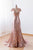 V Neck Sleeveless Cap Sleeves Sequin Prom Dresses Cheap Evening Dresses - EVERISA