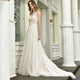 One Shoulder Sleeveless Lace Wedding Dresses A Line Bridal Gown