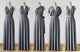 Dark Grey Infinity Bridesmaids Dress,Multiway,Convertable Dress
