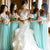 Cheap Mint green Sweetheart floor-length chiffon bridesmaides dresses Prom dresses